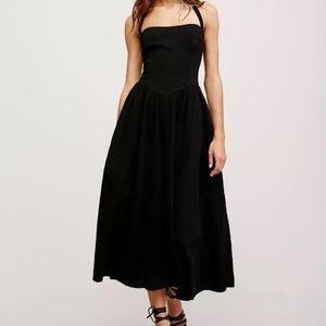 Free people Stargazer Black Tube Dress Size S